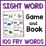 First 100 Fry Kindergarten Sight Words Games and Book {Ide