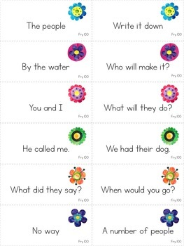 Reading Fluency Games - FIRST 100 Fry Phrases