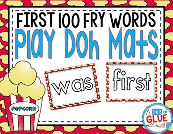 First 100 Fry Play Doh Mats