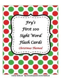 First 100 Fry Sight Word Flash Cards - Christmas Theme