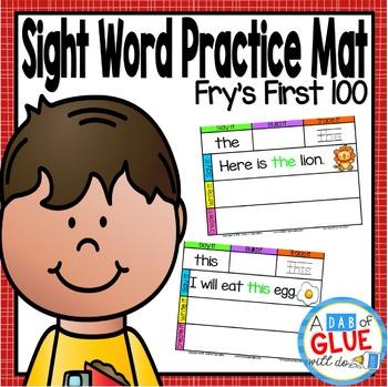 Sight Word Mat: First 100 Fry