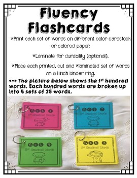 First 100 Fry Sight Words