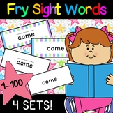 First 100 Fry Sight Words Flashcards - 4 sets!
