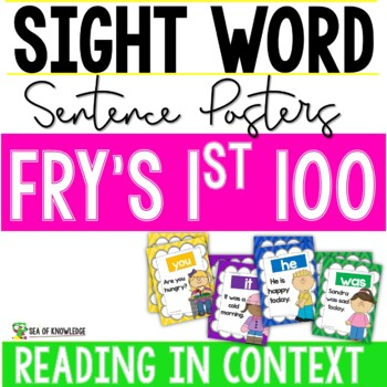 First 100 Fry Sight Words {Sentence Posters} K-G1