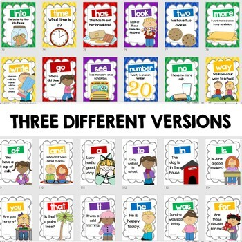 Sight Word Sentence Posters - Fry's First 100