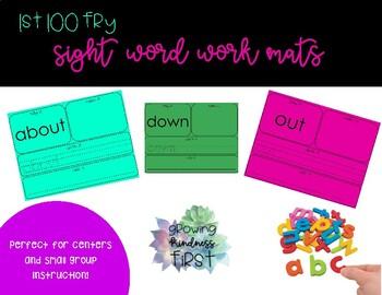 First 100 Fry Sight Words Work Mats