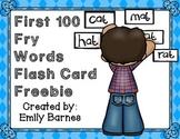 First 100 Fry Words Flash Card Freebie!