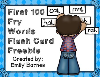 First 100 Fry Words Flash Card Freebie!
