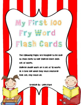First 100 Fry Words Packet