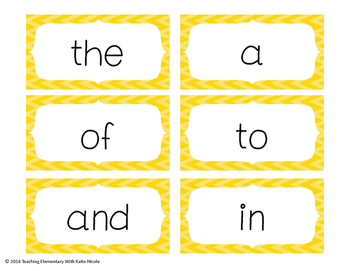 First 100 Fry Words: Sight Word Cards: Use for...word wall, memory, & more!