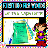 First 100 Fry Words Write & Wipe Cards   Distance Learning