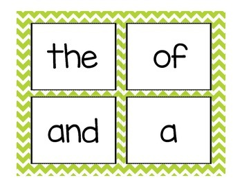 First 100 Fry Words and Alphabet Headers