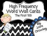 First 100 Instant Sight Word Wall Cards {FREEBIE}