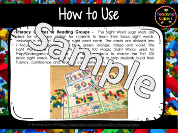 First 100 Sight Word Playdoh and Lego BUNDLE