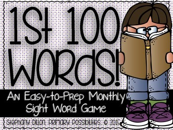 First 100 Sight Words {An Easy to Prep Game}