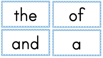 First 100 Sight Words - Flash Cards