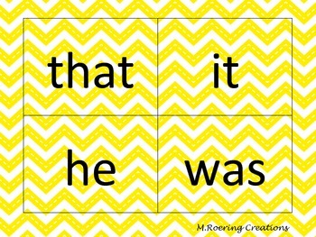 First 100 Sight Words Flash cards