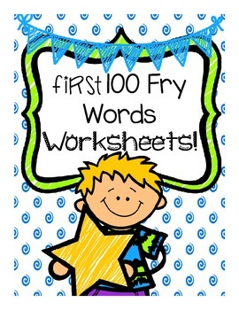 First 100 Sight Words Fry List Worksheets