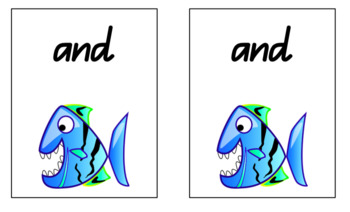 First 100 Sight Words - Go Fish Playing Cards