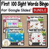 First 100 Sight Words Interactive Bingo Game Bundle for Google Slides™
