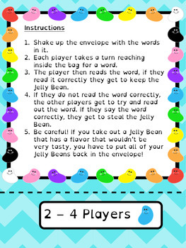 Fry Sight Words Game - 2nd 100 - Jelly Bean Challenge