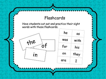 First 100 Sight Words Pack
