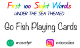 First 100 and 200's Sight Words - Go Fish Playing Cards -