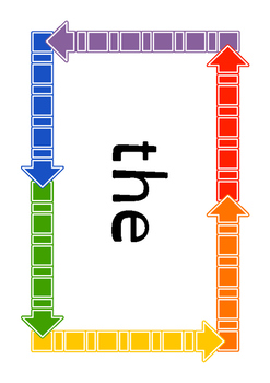 First 100 high frequency words - English curriculum