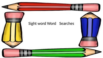 First 100 sight words word search