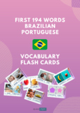 First 194 words in Brazilian Portuguese - Vocabulary Flash cards