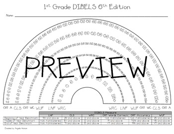 First (1st) Grade DIBELS 6th Edition Rainbow Mini Pack
