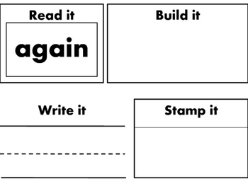 First 1st Grade Dolch Sight Words-Read it, Write it, Build it, Stamp it-41 Words