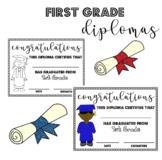 First (1st) Grade Graduation Diplomas