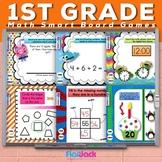 First 1st Grade Math Smart Board Game Bundle