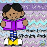 First (1st) Grade Year Long Phonics Pack