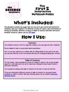Interactive Notebook Starter Sample