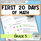 First 20 Days of Math Grade 5 Unit - Mathematical Processes and Growth Mindset