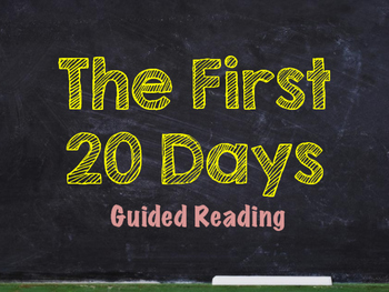 Chalkboard Theme First 20 Days of Reading Newly UPDATED