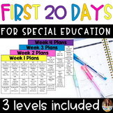 First 20 Days of Special Education The Bundle