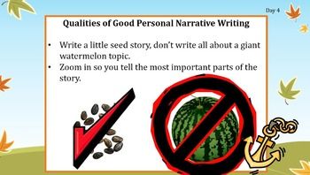 First 20 Days of Writing Workshop:  Intermediate