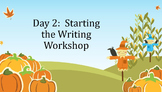 First 20 Days of Writing Workshop:  Intermediate