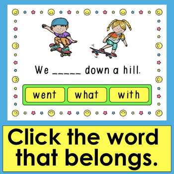 First 20 Dolch Sight Words - 20 Interactive Self-Checking Boom Cards™