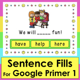 Boom Cards™ Sight Words Sentences First 20 Dolch  - 20 Int