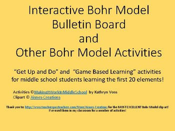 First 20 Elements Bohr Model Activities