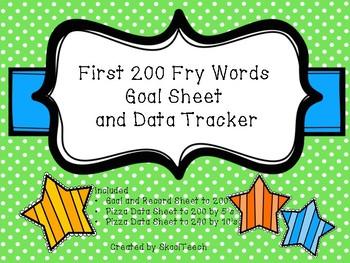First 200 Fry Word's Goal Sheet