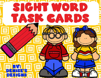 First 24 Sight Word Task Cards