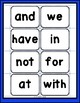 First 25 Sight Words: Cutout Cards for Kindergarten