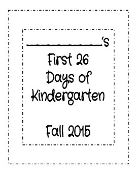 First 26 Days of Kindergarten