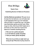 First 30 Days bathroom procedures