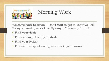 First 30 Days of Morning Work Made Easy